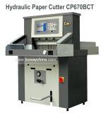 Tagliatrice elettrica idraulica industriale della taglierina di carta della ghigliottina Cp670bct