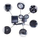 調節可能な極度の明るい二重ヘッド太陽動きセンサー22 LED防水屋外ランプ