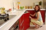 A cozinha cobre a bancada de Corian e a parte superior da vaidade para a venda