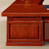 Grande mesa de madeira do CEO do escritório do frame