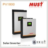 Moet PV1800 High Frequency Hybrid Solar Inverter 3kw 220V met Charge Controller