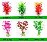 Planta de agua acuática de plástico accesorios de decoración del acuario Acuario