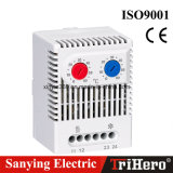 Termostato mecânico de trilho DIN, termostato controlador de temperatura 110V para uso de armário