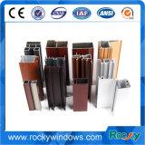 China fabricante de la parte superior del perfil de Extrusión de Aluminio de grano de madera para Windows