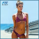 Handworked Badebekleidungs-Badeanzug für Frauen-Wein-Rot-Brasilianer-Bikini