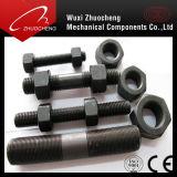 Черное ASTM A193 B7 Threaded Rod с ASTM A194 2h Heavy Hex Nuts
