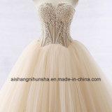 Spitze-Brauthochzeits-Kleid, das Tulle-Schatz-Hochzeits-Kleid bördelt