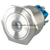 25mm 12 Volt Drucktastenschalter des Edelstahl-verriegelnd PUNKT geleuchteten 1no1nc