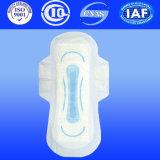 Algodão regular guardanapo sanitários voados do tipo da forma
