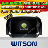 Carro DVD GPS do Android 5.1 de Witson para Ford Ecosport com sustentação do Internet DVR da ROM WiFi 3G do chipset 1080P 16g (A5539)