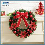 40cm guirnalda de navidad artificial corona con los conos de pino