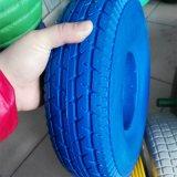 4.10/3.50-6 외바퀴 손수레를 위한 편평한 PU 거품 바퀴