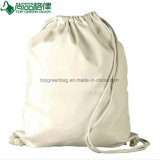 Sac à dos blanc normal de cordon de toile de coton (TP-dB183)