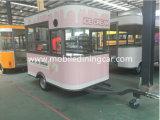 Carro do alimento do gelado com cor cor-de-rosa