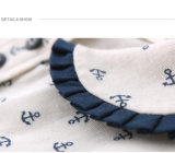 Comercio al por mayor ropa de tejido de punto blanco de las niñas ropa niños vestidos