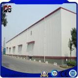 Edificios fabricados coloridos del taller de la estructura de acero