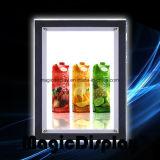 Affichage à cristaux de publicité Frameless Boîte à lumière de l'acrylique