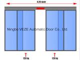 As portas de vidro de correr automáticas de alumínio