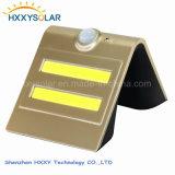 Luz elegante de la pared de la energía solar LED con el sensor