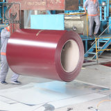 0.38mm Superficie mate Prepainted Aluzinc PPGL bobinas de acero para techos