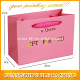 Sacs en gros de cadeau d'achats de papier de Brown emballage (BLF-PB105)