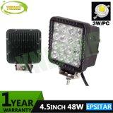 luz auto al aire libre del trabajo de la lámpara LED de 4.3inch 48W Epistar LED