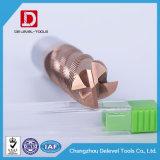 Molino de extremo del desbaste del carburo de la flauta de la alta precisión 4 para el acero del molde