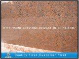 Rabatt natürliche PolierTianshan rote Granit-Bodenbelag-Fliesen