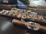 16 perles ouvertes en gravure en flûte en argent (FL-280S)