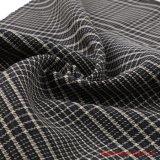 Fils teints de rayonne et de spandex polyester Plaid tissu de costumes
