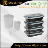 Ronda Deli Food Grade Microwavable claro para llevar la fruta de plástico recicladas solo comer comida rápida cocina PP desechables Contenedor de Almacenamiento de envases con tapas