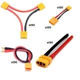 Xt90 au connecteur à fiche banane 4 mm Câble de charge 14AWG 150mm pour les RC Batterie Lipo