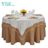 180 cm Tour de Luxe Rose Champagne de gros mariage nappe Table Cloth