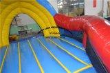 Juego inflable del deporte del baloncesto de la corrida de la meta