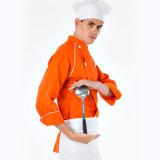 로고 Custom100%Cotton 부엌 요리사 제복, 수석 요리사 제복, 요리사 외투 제복