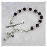 Braccialetti cattolici con Wholeale trasversale, braccialetti (IO-CB130) del rosario