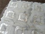 Calacatta Goldweißes Marmor-Mischshell-Wasserstrahlmosaik-Fliese