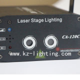Luz laser programable del color multi de 2 orificios