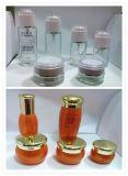 Lotion pour le pot de crème&bouteille en verre avec bouchon en acrylique de 20, 40, 60, 80, 120ml (LD-C01)