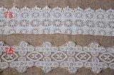 衣服のアクセサリのための方法綿の刺繍の花のレース