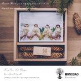 Rectángulo de madera de la visualización de la foto de Hongdao