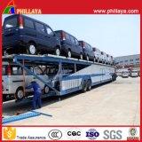 Três Axis semi-fechado Trailer Car Carrier Auto Hauler