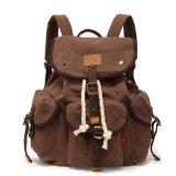 Jeune fille étudiante en sac à dos sac de toile (RS-H9012)