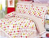 100% algodão conjunto de roupa de cama colorida