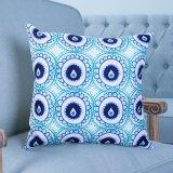 Coussin décoratif d'impression numérique/oreiller avec ikat motif géométrique (MX-36)