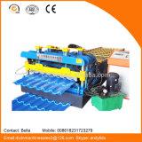 China Color Coated Roofing Hoja de perfil de acero Roll formando la máquina