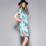 Короткая повелительница Одевать Одежда женщин партии мягкого света втулки сладостная Silk