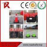 Roadsafe Verkehrssicherheit flexibler Belüftung-niedriger reflektierender Verkehrs-Gummiplastikkegel