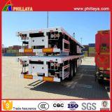20FT 40FT Flachbettbehälter-Chassis-LKW-Ladung-halb Schlussteil