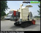 Rice Wheat Rapeseed를 위한 4lz-5.0 1800L Rice Tank Rubber Crawler Combine